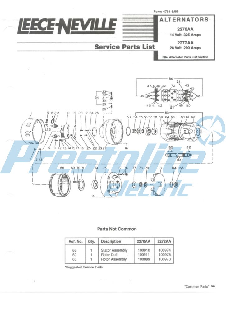 2272AA parts list